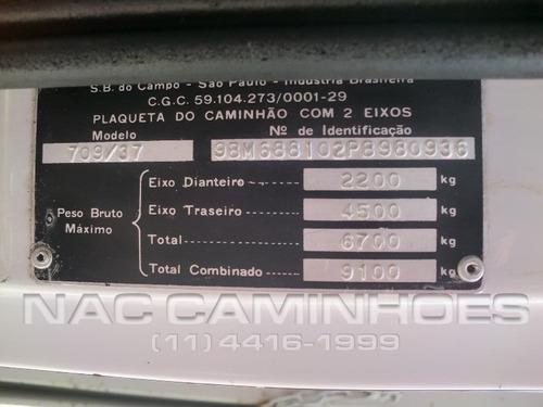 mb 709 ano 1993 carroceria de ferro 4,50 mts