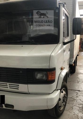mb 710 plus - 05/05 - baú de alumínio, caminhão muito novo *