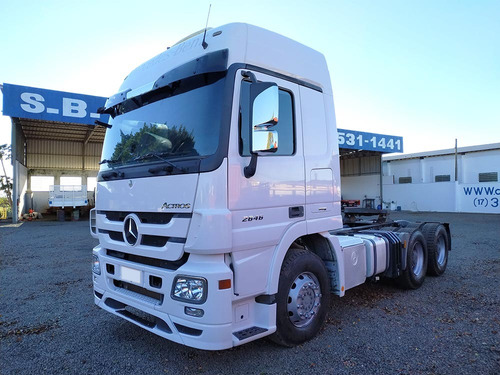 mb actros 2646 2012 2013 aut cab leito 6x4 - sb veiculos