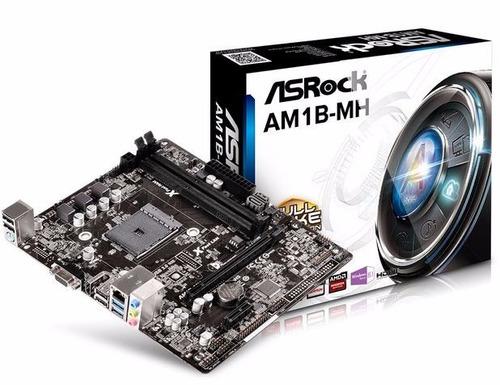 mb asrock am1b-mh micro atx amd am1 ddr3 1600mhz usb 3.0 vga