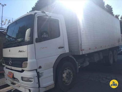 mb atego 2425 truck, 2008, bau de alumínio!