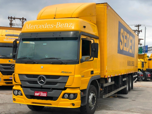 mb atego 2426 ano 2013 6x2 chassis placa bap.3322