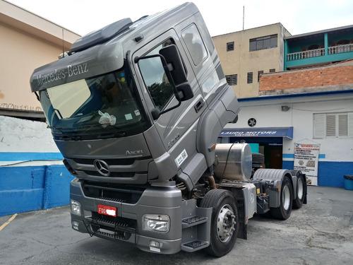 mb axor 2544 6x2 ano 2018 modelo 2018 canelinha 13.864 km