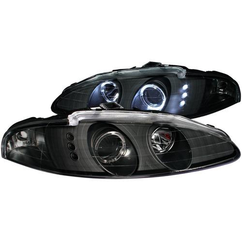 mb eclipse 95-96 projector h.l g2 2 halo black led