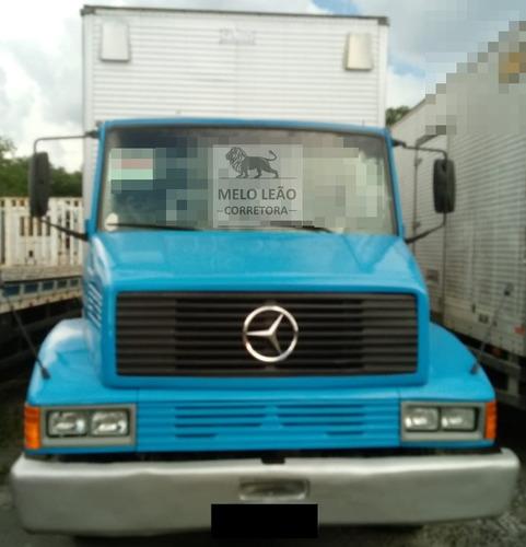 mb l 1218 - 91/92 - truck, baú de alumínio novo, turbo