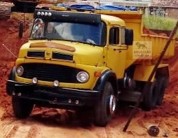 mb l 1313 - 75/75 - truck, caçamba 10m³ , diferencial *