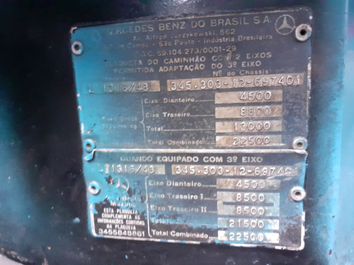mb l 1316 - 85/86 - truck, baú frigorifico facchini