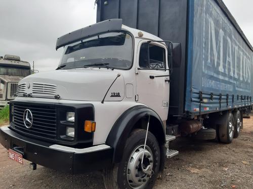 mb l 1318 ano 1989 truck baú saider