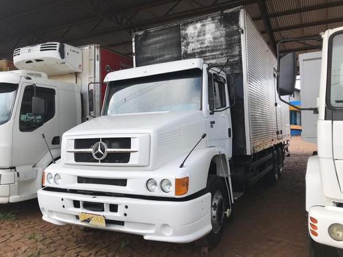 mb l 1620 truck reduzido com baú 8,50m
