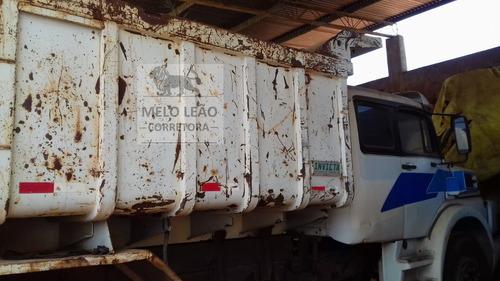 mb ls 1934 - 90/90 - truck morto, caçamba, cabine leito