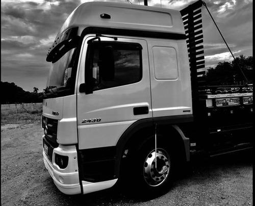 mb mercedes-benz 2430 bitruck com carroceria sider caçamba b