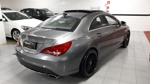 m.benz cla 200 1.6 first edition turbo 2014 cinza blindada