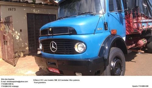 m.benz l 1513 ano 1980 truck graneleiro