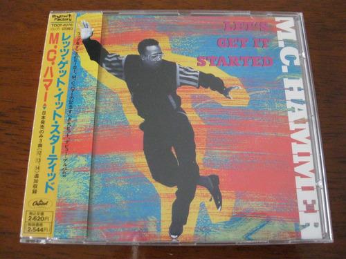 mc hammer : let's get it started ~ cd japonês + bônus + obi