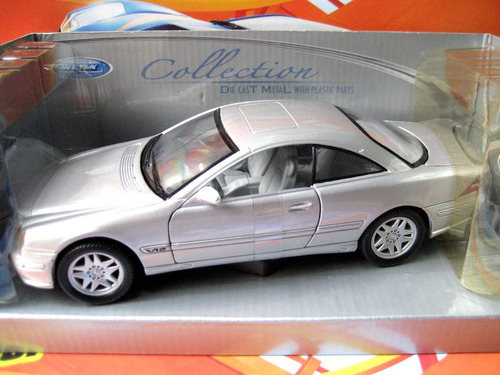 mc mad car 1/24 welly mercedes benz cl600 auto escala 1/25
