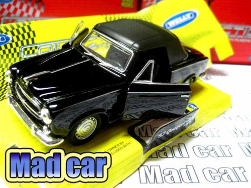 mc mad car 1/36 welly 57 peugeot 403 cabriolet auto escala