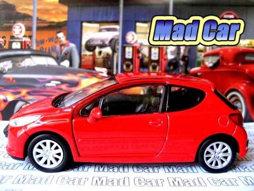 mc mad car 1/36 welly peugeot 207 auto coleccion escala