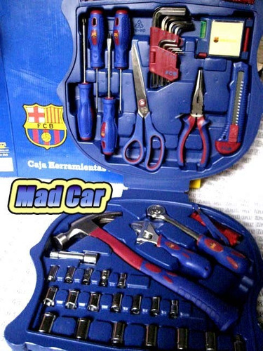 mc mad car caja de herramientas fcb barcelona futbol juego