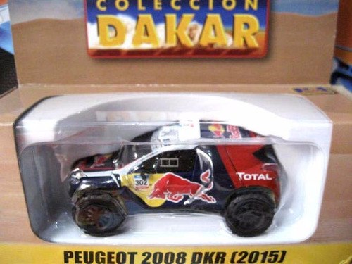 mc mad car dakar peugeot 2008 dkr 2015 auto coleccion 1/43