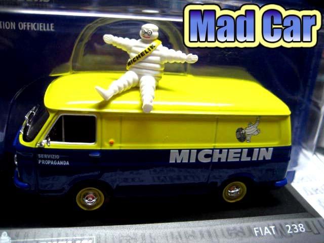 mc mad car fiat 238 michelin coleccion auto 1/43