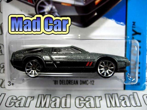 mc mad car hot wheels 81 delorean dmc 12 auto coleccion 1/64