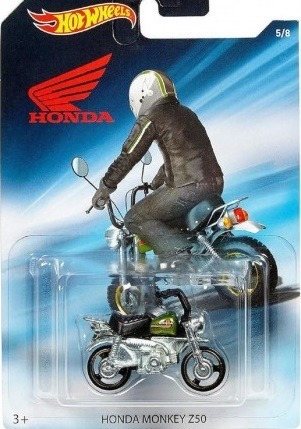 mc mad car hot wheels honda monkey z50 moto coleccion 1/64