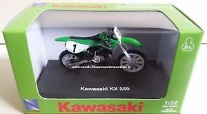 mc mad car kawasaki kx 250 moto coleccion newray 1/32
