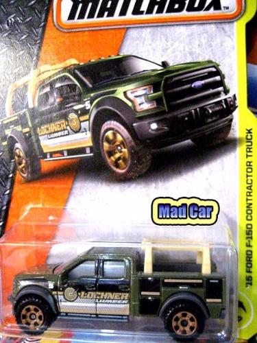 mc mad car matchbox 15 ford f-150 contractor truck auto mbx