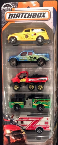 mc mad car matchbox pack set ambulancia fire bombero chevy