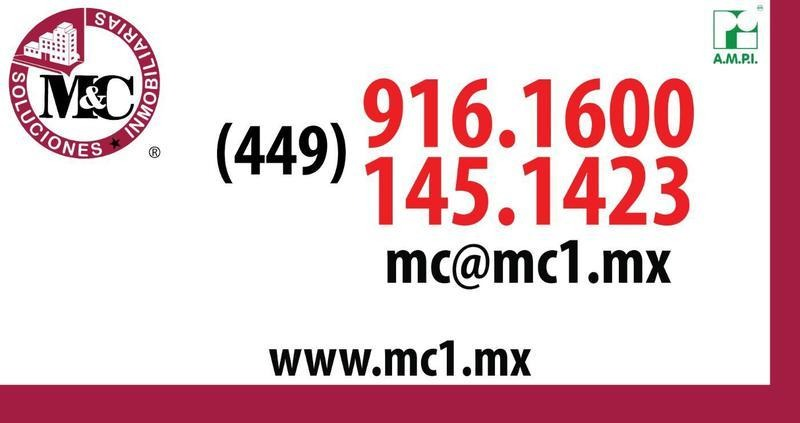 m&c renta terreno comercial en av. convencion pte. aguascalientes