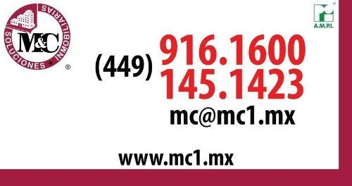 m&c venta de terreno residencial col. centro en aguascalientes