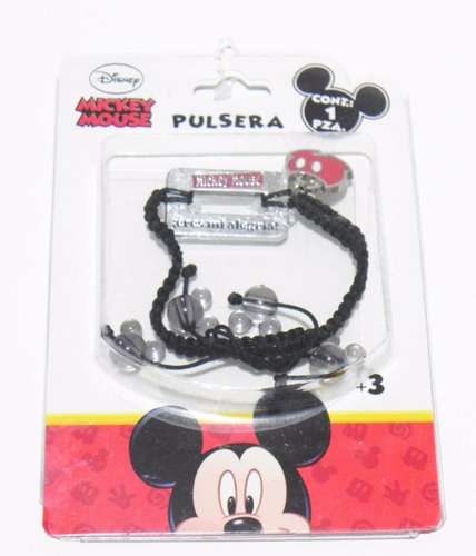 mca.disney pulsera ajustable de mickey mouse original.