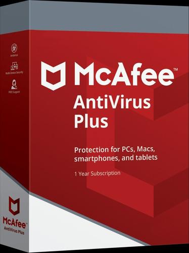 mcafee antivirus  licencia 1 año