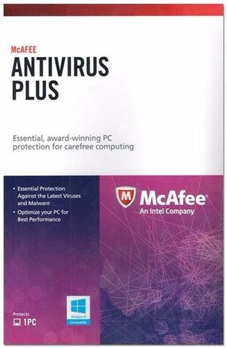 mcafee antivirus plus 1 pc 1 año nuevo garantia