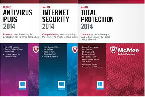 mcafee antivirus plus 2016 3pc licencia electronica