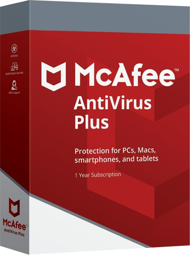 mcafee antivirus plus + 6 meses + 1 pc + envio gratis