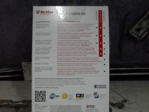 mcafee internet security 2013  nuevo