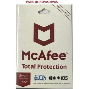mcafee total protect 1 usr. 10 eq. multidispositivos tarjeta