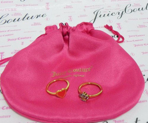 mca.juicy couture set de anillos corona y corazon #8