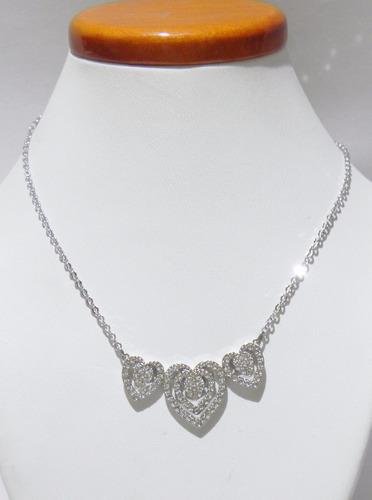 mca.swarovski collar 3 corazones modelo 5142737 envio gratis