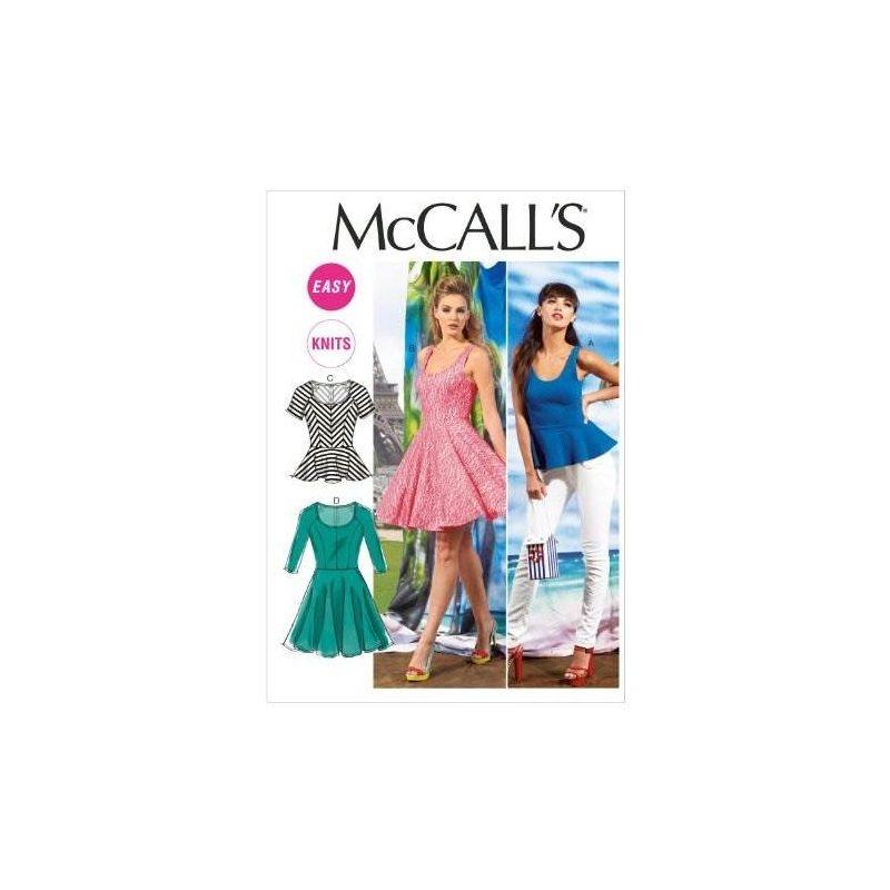 Mccall Pattern Company M6754 Misses Tops Y Plantillas De Cos ...
