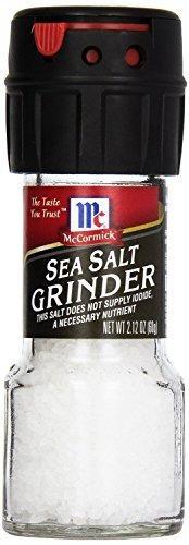 mccormick - sea salt - 2.12-oz. grinder (paquete de 3)
