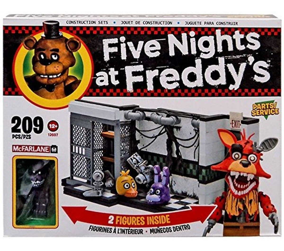 SERVICE 209 pcs NEW McFarlane 12697 Five Nights at Freddy/'s PARTS