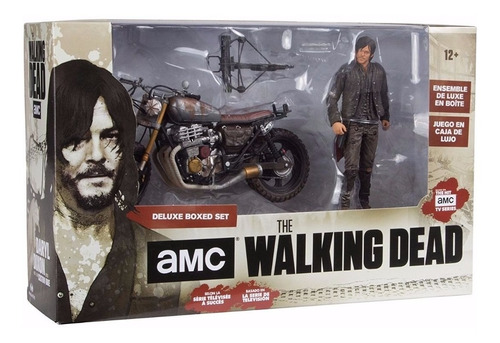 mcfarlane the walking dead daryl dixon + custom bike (moto)