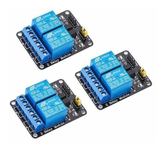 Mcigicm 3pcs 2 Canales Dc 5 V Modulo De Rele Para Arduino Un