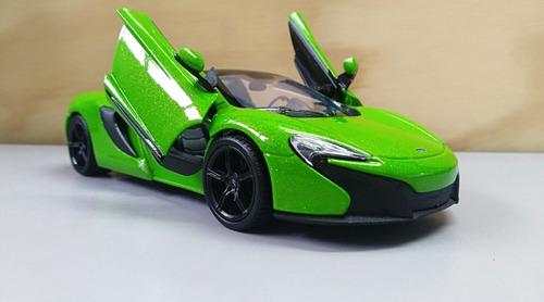 mclaren 650s spider verde escala 1/24, 18cms de largo metal
