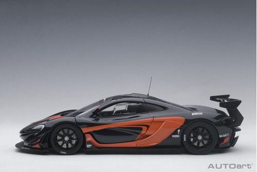 mclaren p1 gtr dark grey metallic a escala