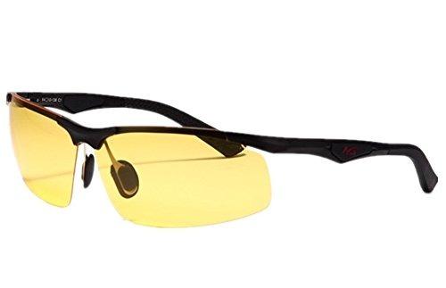 b2dd27ccde Mcolics Vista Nocturna Gafas De Conducción Para Hombres Muj ...