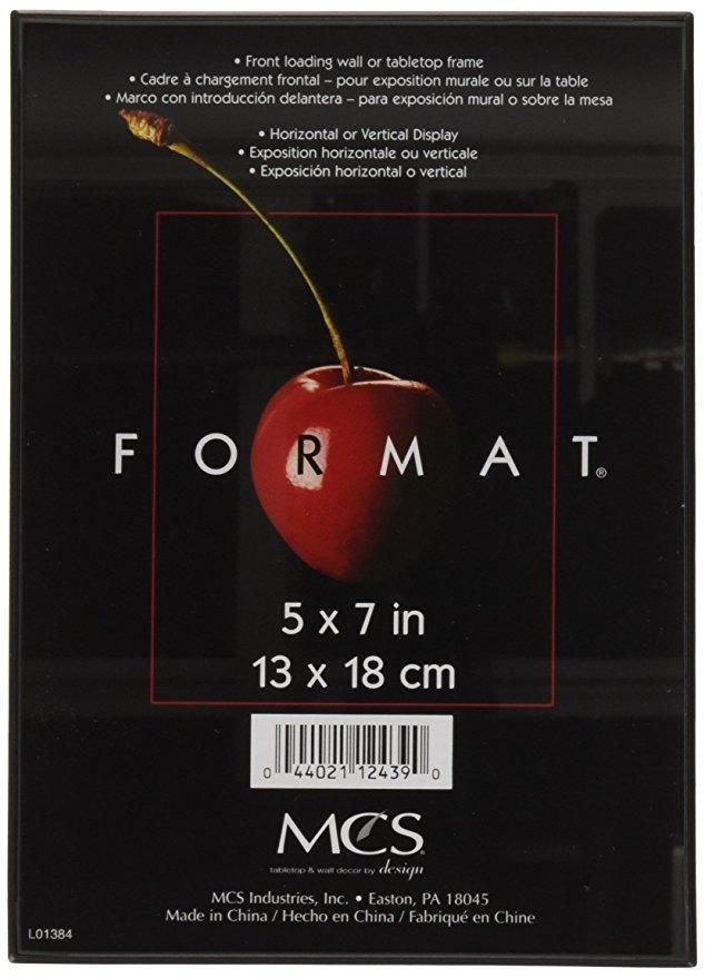Mcs 12,7 x 17,8 cm Formato Marco De Fotos, Color Negro, Sen ...