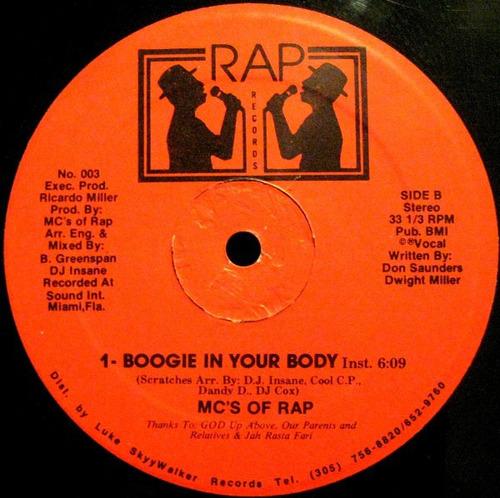 mc's of rap    12 single   boogie in your body